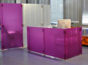 Büro Trennwand Callcenter Acrylglas Empfang