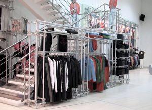 Verkaufsregale Metall Ladeneinrichtung für Mode und Textil