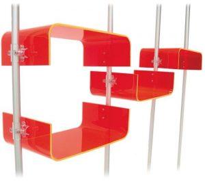 Acrylglas U-Schalen für Ladeneinrichtung