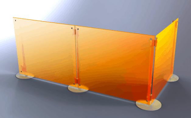 b ro trennwand fluowall callcenter trennw nde. Black Bedroom Furniture Sets. Home Design Ideas