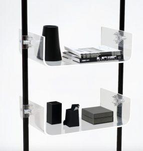 Ladenbau Mobilfunk Ladeneinrichtung Handyshop schwarz transparent