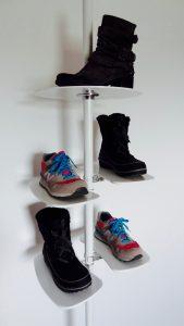 Ladeneinrichtung Schuhe Schuhpräsenter weiss