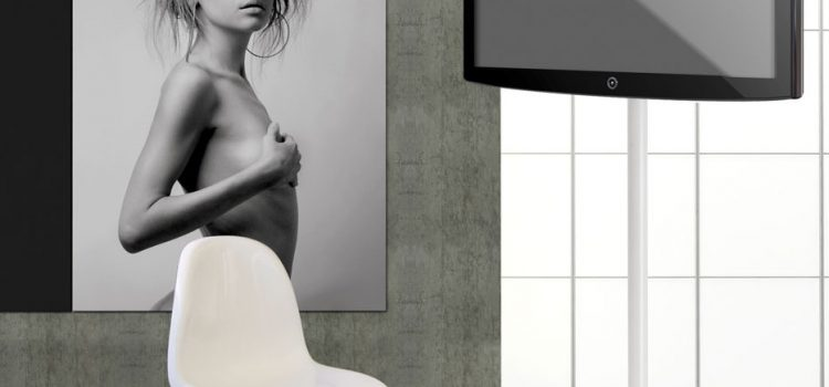 LCD Bodenständer ELIO weiss oder schwarz