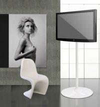 LCD Bodenständer Standfuss für TV, Monitore und Bildschirme in weiss oder schwarz