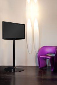 LCD Bodenständer Standfuss für TV und Monitore schwarz