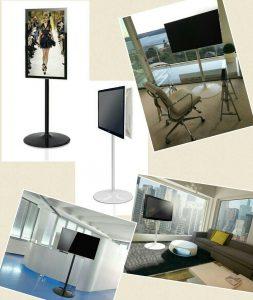 LCD Bodenständer TV Standfuss im Büro, Hotel, Gewerbe, Messe