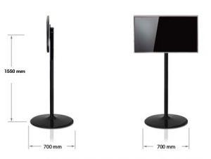 LCD Bodenständer TV Standfuss schwarz Abmessungen