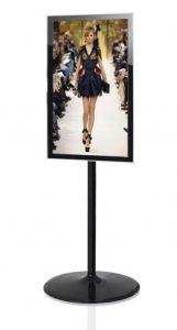 LCD Bodenständer TV Standfuss schwarz Hochformat