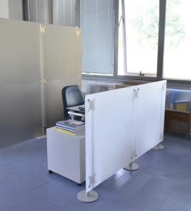 Trennwand Raumteiler Büro Acrylglas