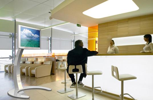 LCD TV Standfuss für Messe LED Monitorständer bis 60 Zoll