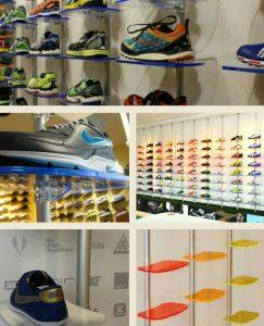 Ladenbau Sportartikel Schuhpräsentation