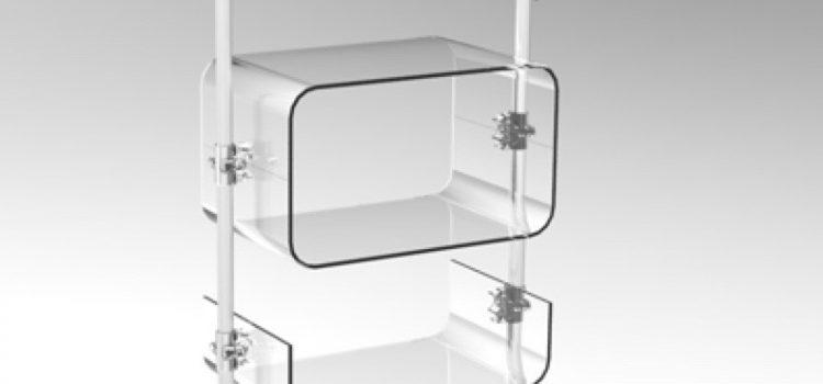 Warenpräsenter Acrylglas transparent mit U-Schalen