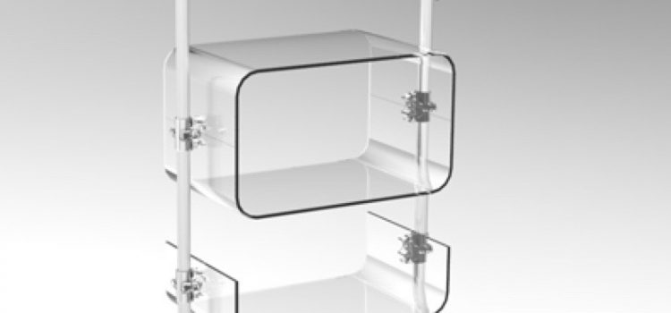 Warenpräsenter Acrylglas Trikotständer transparent