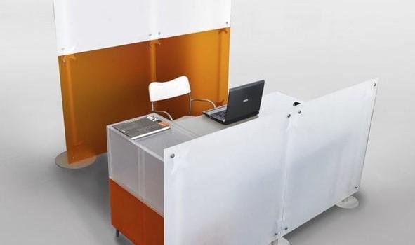 Stellwand Schreibtisch – Trennwand Empfangsbereich