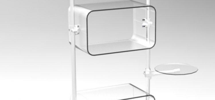 Warenpräsenter transparent Acrylglas U-Schalen