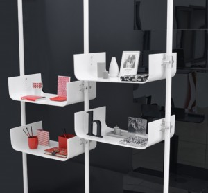 Ladeneinrichtung Einzelhandel weiss Acrylglas, Ladenbau System