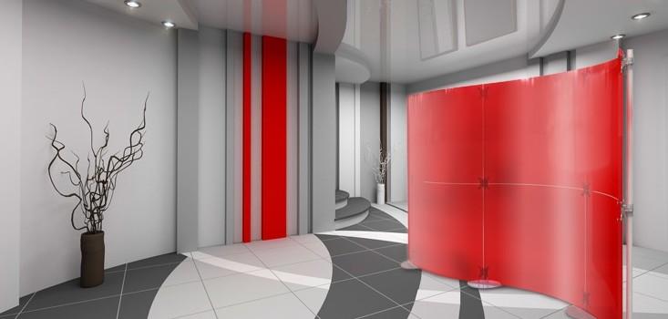 Mobiler Sichtschutz Foyer
