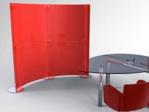Mobile Trennwandsysteme im Büro Konferenztisch