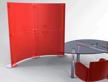 Acrylglaswand Raumteiler