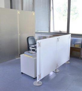 Moderner Sichtschutz Büro oder Praxen