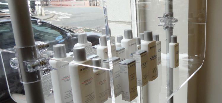 Verkaufsregal für Kosmetik Salon Acrylglas