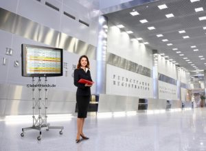 LCD TV Ständer rollbar - Monitorstaender Messe