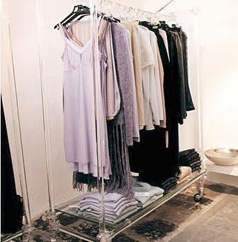 Kleiderständer Garderobenständer Acrylglas rollbar