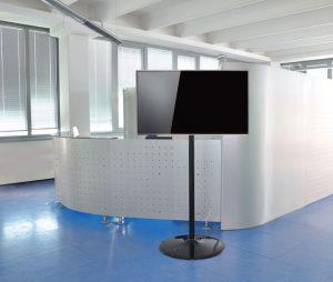 LCD Ständer Standfuß schwarz für Büros, Hotelzimmer und Praxen