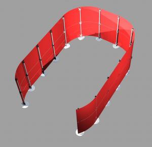 Stellwand Einhausung Acrylglas rot