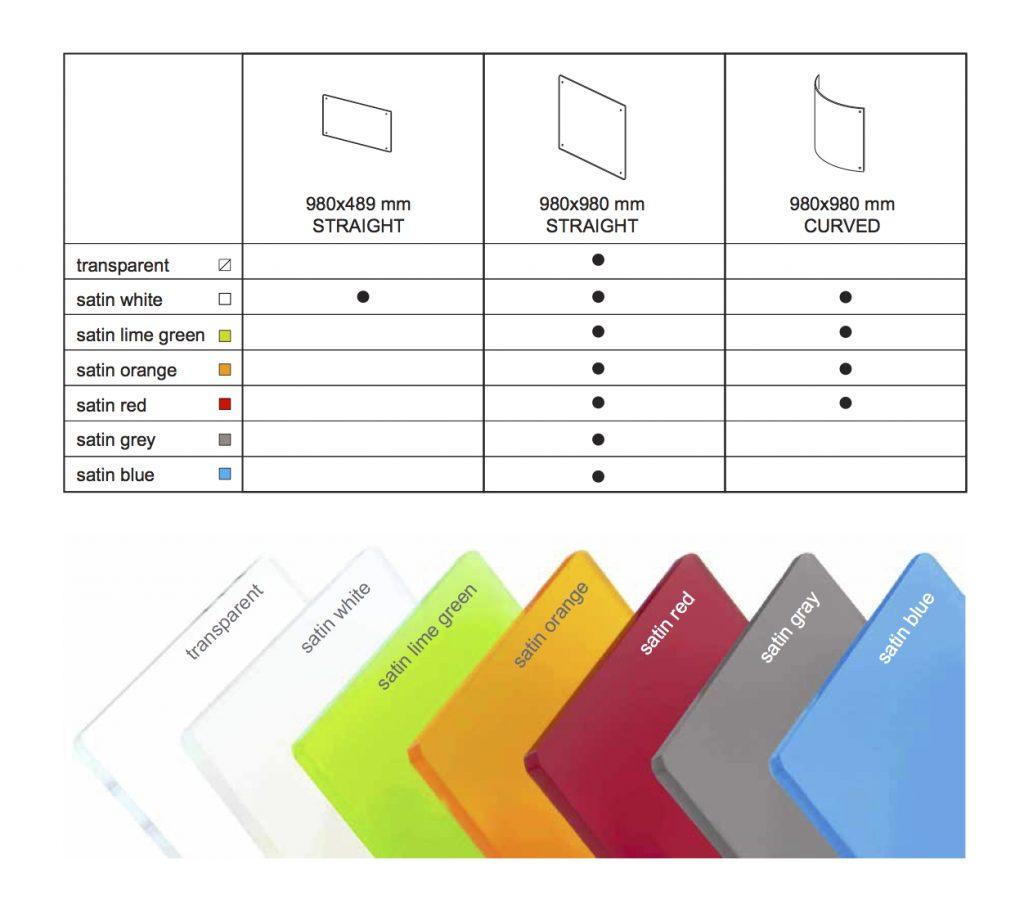 Büro Sichtschutz Stellwand aktuelle Farben