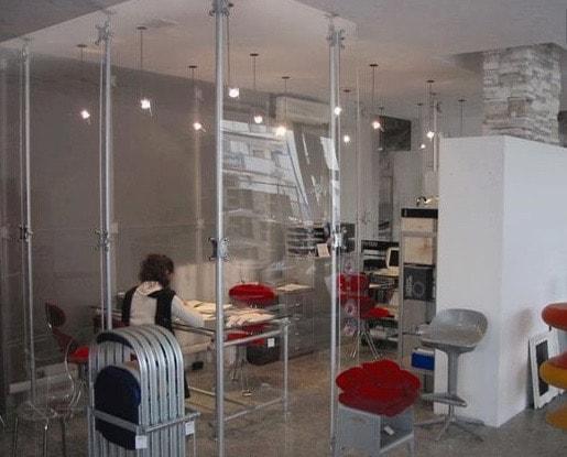 Schreibtisch sichtschutz ladeneinrichtungen for Divisori da ufficio