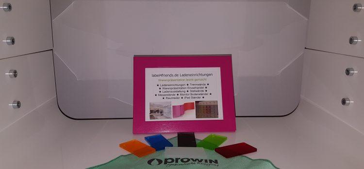 Acrylglas und HochglanzOberflächen reinigen und pflegen mit Prowin Hochglanzzauber