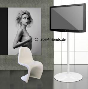 LCD Standfuß für die digitale Präsentation am Messestand