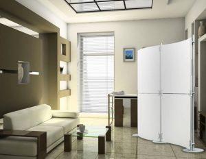 Raumteiler freistehend mit Acrylglas Elementen für die perfekte Raumgestaltung eines modernen Büros