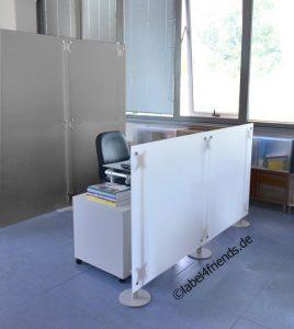 Raumteiler Sichtschutz Büro Acrylglas Schreibtisch Trennwand