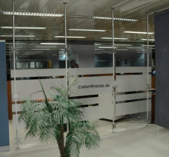 Raumteiler Sichtschutz Stellwand Büro Mit Teleskopstangen