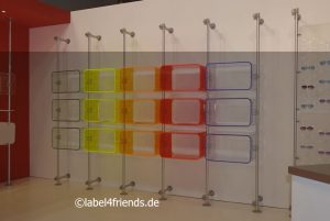Warenpräsentation Messe Messeständer buntes Acrylglas