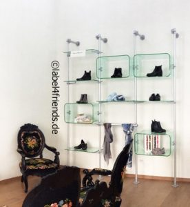 Showroom Schuhe Regalsystem - Schuhdisplay
