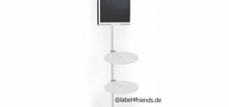 Warenpräsentation im Einzelhandel Multistele mit LCD TV