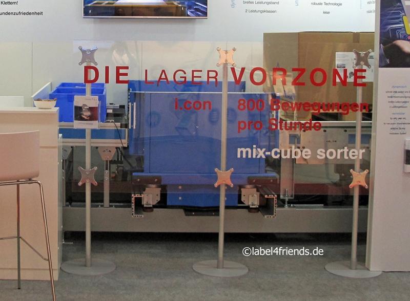 Mobile Trennwand Industrie transparent mit selbststehenden Pfosten