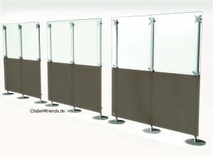 Mobile Spuckschutz Trennwand Hygieneschutz Trennwand