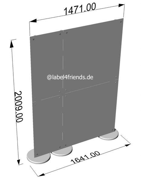 Mobile Trennwand Büro oder Praxis 150 L x 200 H