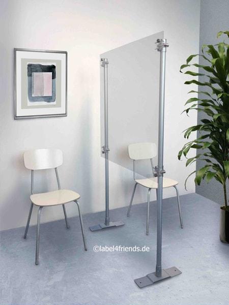 Mobile Hygieneschutz Trennwand Spuckschutz Stellwand